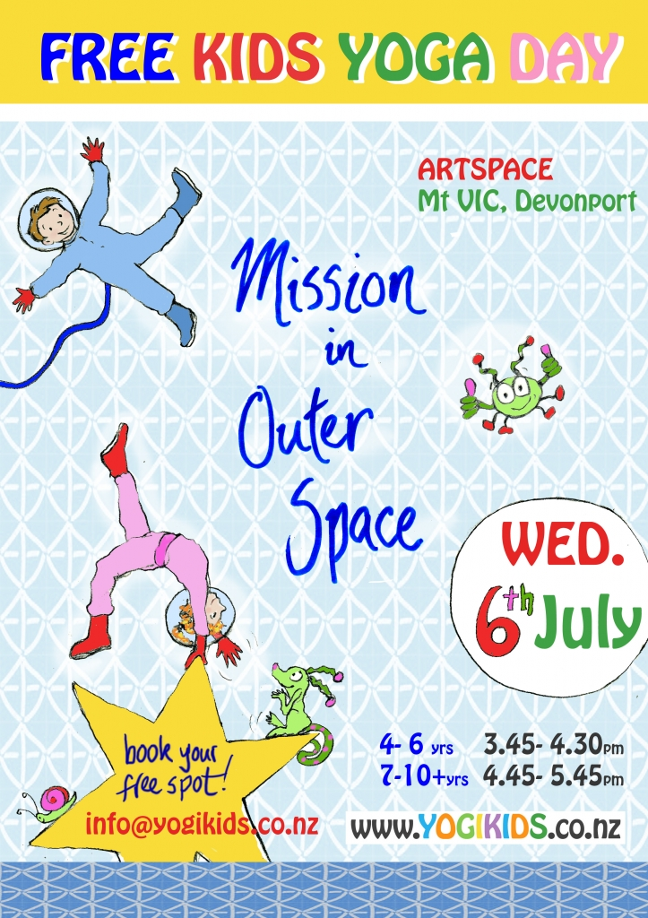 Free Kids Yoga class - mission in Outer Space