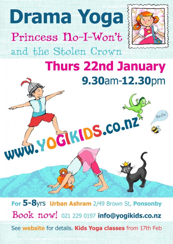 Flyer for Drama Yoga Holiday Programme