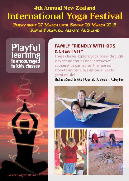 International Yoga festival with Yogi Kids Auckland